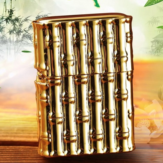 Heavy Armor Bamboo Blessing Jacket Zippo Lighter