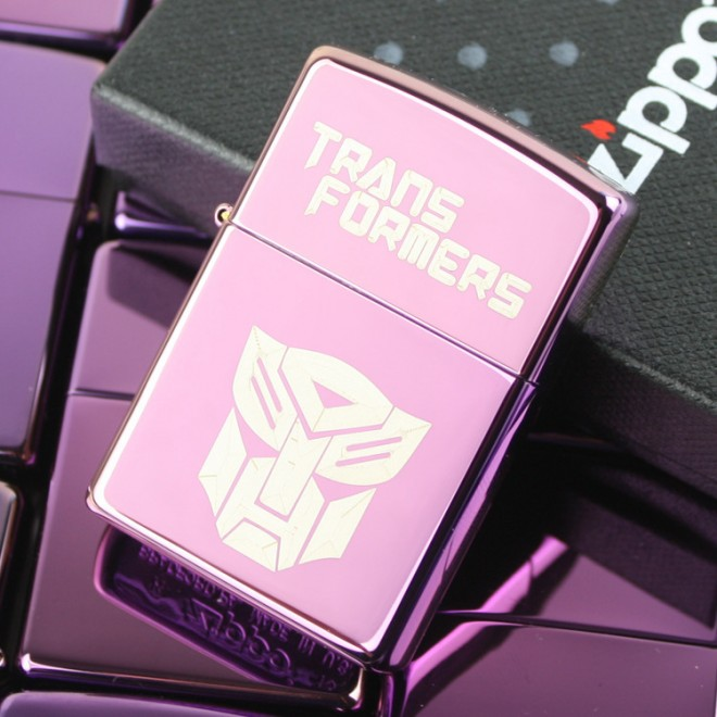 Purple Ice Transformer Optimus Prime Zippo Lighter