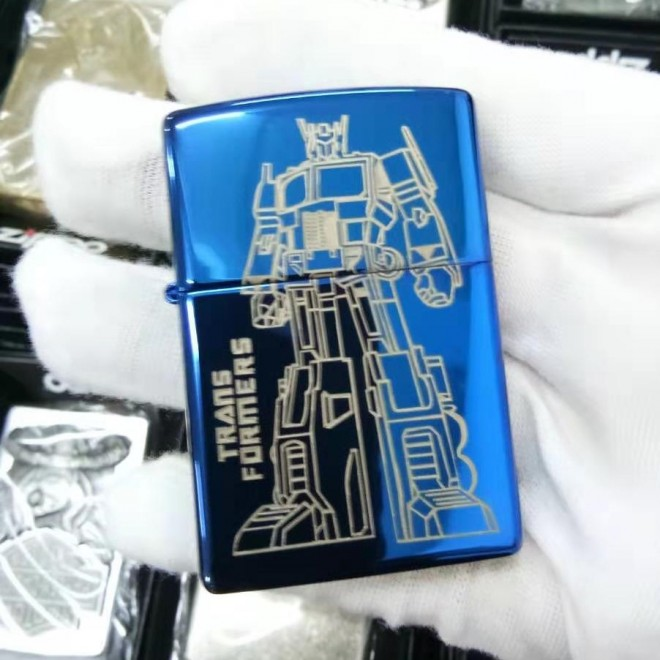 Blue Ice Transformer Optimus Prime Zippo Lighter