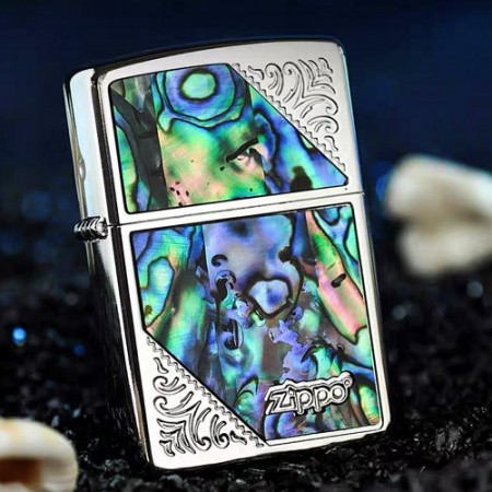 Western Design 2SW-SHELL SV Inlay Shell Zippo Lighter