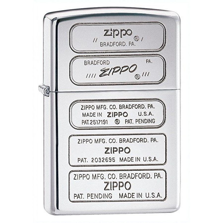 Silver Timeline of Zippo Bottoms Stamps Zippo Lighter