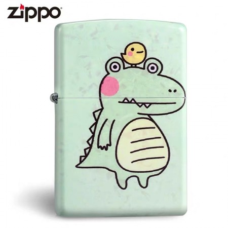 Green Matte Little Dino Zippo Lighter