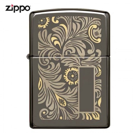 Black Ice 150 Venetian Tow Tone 49162 Zippo Lighter